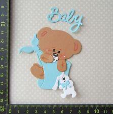 Scrapbooking  Kartenaufleger  Sticker  Teddy Baby blau