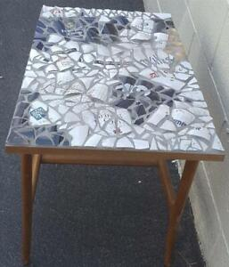 Fabulous One-Of-A-Kind Hand Crafted Mosaic Accent Table  NICE CONVERSATION PIECE