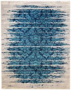 Super Area Rugs Contemporary Modern Vintage Area Rug in Teal