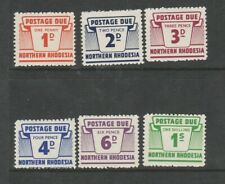 Northern Rhodesia 1963 Postage Dues MM SG D5/D10