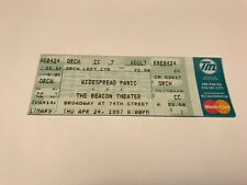 Rare Wide Spread Panic Unused Concert Ticket 4/24/97 Beacon Theater Nyc