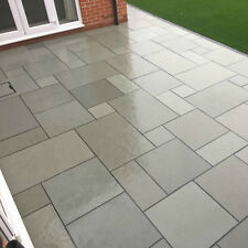 Paving Slabs | Blue Limestone | Sawn Edges | Mixed Sizes | 17m2 Project Pack