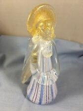 Pretty Venetian Latticino Murano Angel Art Glass Italy Gold AventurIne Exc