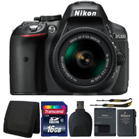 Nikon D5300 24.2MP DSLR Camera with 18-55mm Lens and Accessory Kit