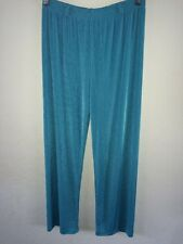 Almia Loose Fit Stretch Polyester Trousers Size 14 Turquoise <R8325