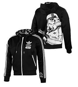 New Adidas Original Stormtrooper Jacket StarWars Flock Track hoodie Black P99646