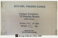 2015 ESP NRL TRADERS CARD TRADING CARD FACTORY CASE (36 PKS x 12 BOXES)