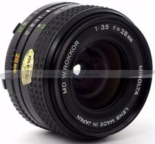 Minolta MD w. rokkor gran angular 3.5/28mm Prime lens (122)