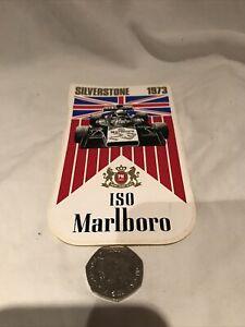 Vintage 1973 Silverstone Marlboro F1 Decal Formula 1 Original