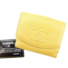 Chanel Wallet Purse Folding wallet COCO Beige Woman unisex Authentic Used T2800