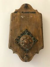 Antiker Messing Türzieher Türklingel Klingeltaster Türbeschlag Türdrücker 1906