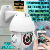 Waterproof 1080P HD IP IR Camera Night Vision 5X Zoom Outdoor WiFi PTZ Pan Tilt