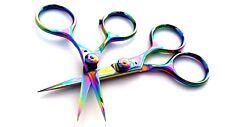 "Razor Scissors 4"" & 5"" Set Rainbow Straight Sharp Blades Fly tying tools"