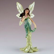 "Mini Green Feather Wing Fairy Figurine 5"" High Resin New!"