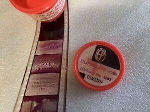Vintage EP Dumbo Bambi Disney Film Strip Negative Colour Stock C50/60s