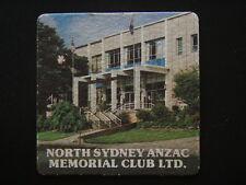 NORTH SYDNEY ANZAC MEMORIAL CLUB LTD CAMMERAY 9298311 NOTES COASTER