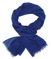 Écharpe pour Femmes Bleu par Ella Jonte Léger Aigle Oiseau Motif Coton Viscose
