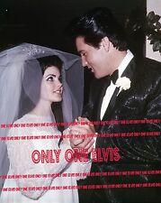 ELVIS & PRISCILLA PRESLEY 1967 8x10 Photo LAS VEGAS WEDDING Saying I Do