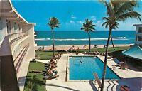 Chrome FL Postcard E044 Barefoot Mailman Hotel Beach Club Pampano Swimming Pool