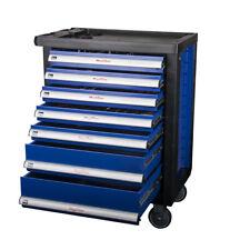"""Werkstattwagen """"Blue Night"""" 5 von 7 Schubladen mit Werkzeug Werkzeugwagen Kiste"""