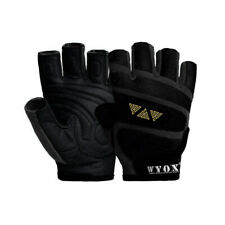 WYOX Weight Lifting Gloves Leather Workout best Gym Exercise Training Unisex BLK