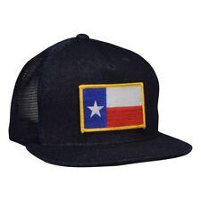 Texas Trucker Hat - Blue Denim Snapback with TX Flag