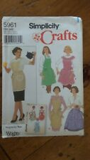 Simplicity Crafts pattern #5961, Misses' Apron, 4 Styles, One-Size
