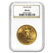 1923-D $20 Saint-Gaudens Gold Double Eagle MS-66 NGC - SKU#153632