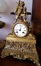 ANTIQUE FRENCH FIGURAL MANTEL CLOCK.