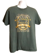 Vintage Hanes Beefy T-shirt 1999 Rice Valley Rally Cycling Club Green