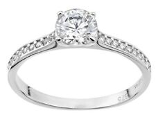 9ct white gold shoulder set created diamond ring great Anniversary gift idea