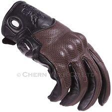Motorcycle Bike Cowhide Leather Sports Racing Gloves Black/Brown XL & Carabiner