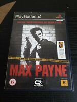 Max Payne 1 Playstation PS2 Action Video Game Manual PAL