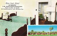 Postcard Rose Court Motel Memphis Tennessee