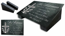 Grabstein Gedenktafel Grabplatte Urne Tiergrabstein Gedenkplatte Blumenkreuz ST