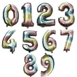 UNICORN RAINBOW HAPPY BIRTHDAY FOIL BALLOONS NUMBERS DECORATIONS BANNER BUNTING