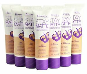 Rimmel London Stay Matte Liquid Mousse Foundation Makeup pick a shade