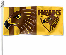 Hawthorn Hawks AFL Pole Flag LARGE 1800 x 900mm Man Cave Shed Pole not included