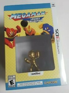 Mega Man Legacy Collection 3DS Gold Amiibo new