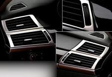 2PCS Silver Interior Side Air Condition Vent Cover Trim for BMW X6 E71 2008-2014