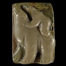 Hand-carved Stunning Polar Bear Ribbon Jasper Pendant Bead 1 Pcs C05602