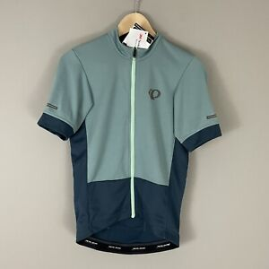 Pearl Izumi $85 Mens Elite Escape Bike Cycling Jersey Sz S Fitted Full Zip Green