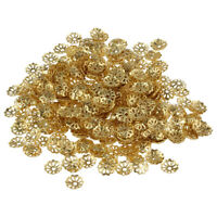 500 Stück 6Mm Gold Ton Blume Perlenkappen Für Schmuck Machen A7W3 VG