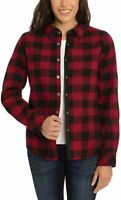 Orvis Women's Fleeced Lined Flannel Buffalo Plaid Pinnacle Shirt Jacket