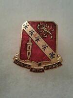 Authentic WWII US Army 168th Field Artillery Regiment DI DUI Unit Crest Insignia