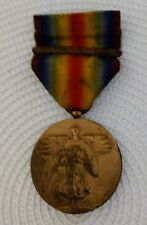 WWI U.S. Navy Victory Medal w/ France Clasp and Pinback on Ribbon