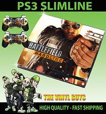 PLAYSTATION PS3 SLIM Adesivo BATTLEFIELD rocciosa 02 PISTOLA SKIN e 2 SKIN PER PAD