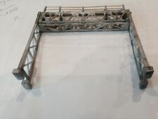 ULRICH DOUBLE TRACK SIGNAL BRIDGE 1/87 HO ALL METAL READY FOR PAINT