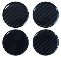 Nabenkappen Aufkleber 3D 910033 Carbon Schwarz Felgendeckel Radnabendeckel 55 mm