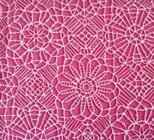 Amazing Lace Studio 8 BTY Quilting Treasures Pink White 100% Cotton Screenprint